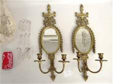 239 Pair Brass Sconces