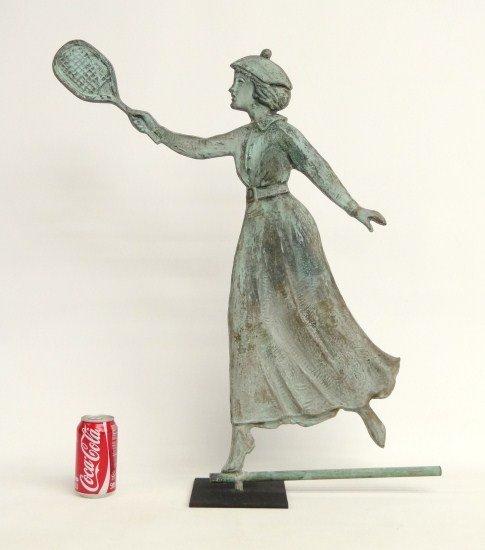 6: Tennis Lady Weathervane