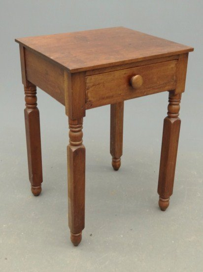 21: 19th c. Single Drawer Stand