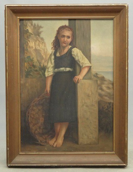 7: 19th c. Painting Little Girl