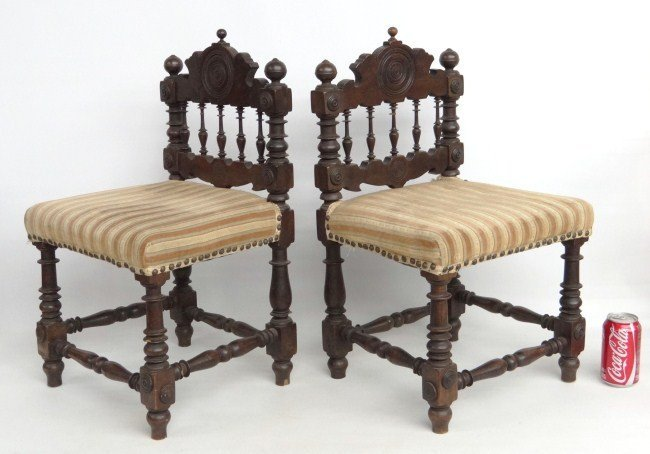 2: Pair Continental Child's Chairs