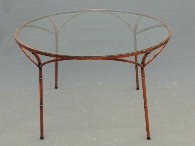 24: Wrought Iron Glass Top Table