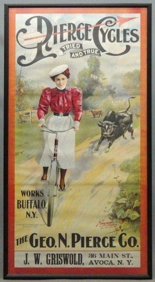1: 19th c. Pierce Poster Framed