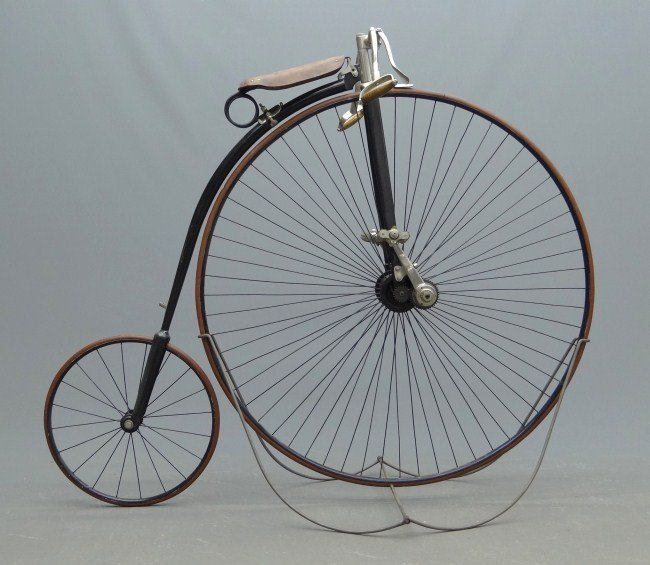 """2: 46"""" Springfield Roadster High Wheel Safety Bicycle"""