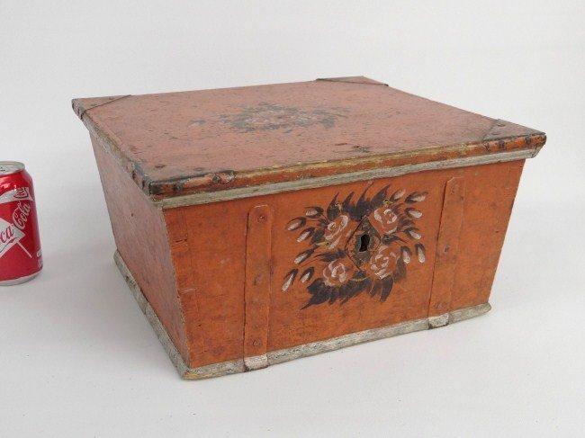 19th c. Painted Breadbox