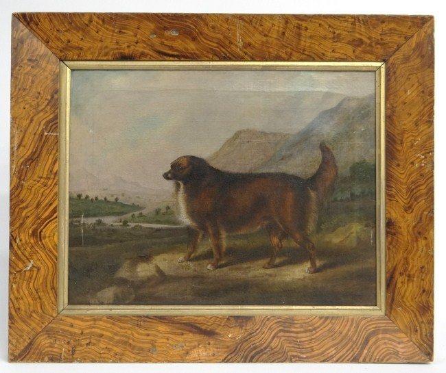 19th c. Painting Dog