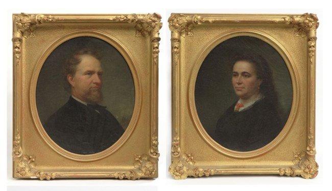 Pair 19th c. Portraits