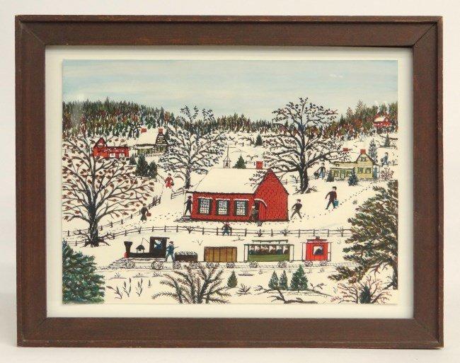Painting Hattie Brunner