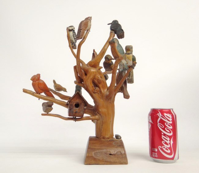 Folk Art Bird Tree