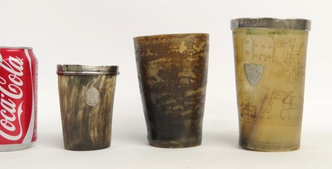 Etched Horn Beakers