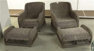 Wicker Chairs With Ottomans