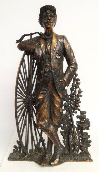 Cast Iron High Wheel Statue