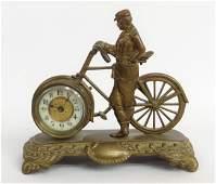 Figural Bicycle Clock