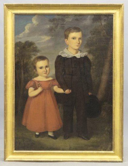 Painting Joseph Whiting Stock