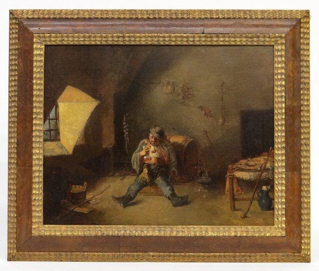 Painting Att. To M. Munkacsy