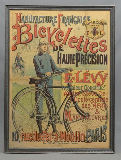 French Bicycle Poster Manufacture Francaise..""""