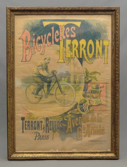 French Bicycle Poster  Bicyclettes Terront""""