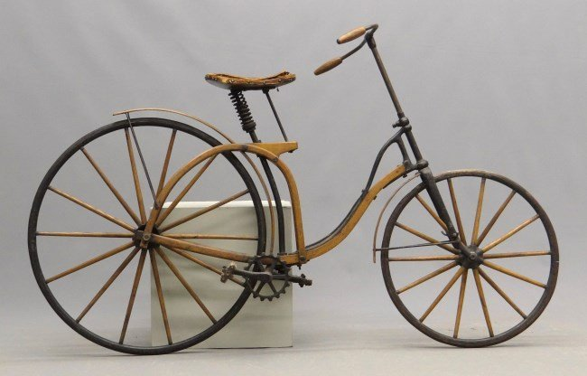 c. 1891 Elliot Hickory Hard Tire Safety Bicycle