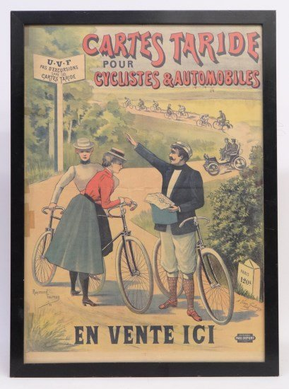 French Bicycle Poster  Cartes Taride""""