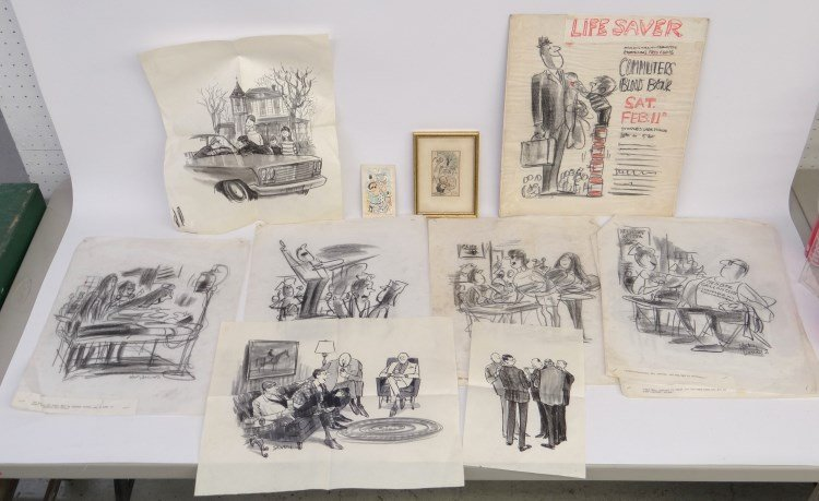New Yorker Cartoonist Whitney Darrow and Saxon Lot