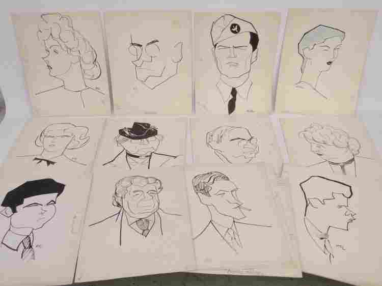 Original Caricatures By William Auerbach Levy Lot