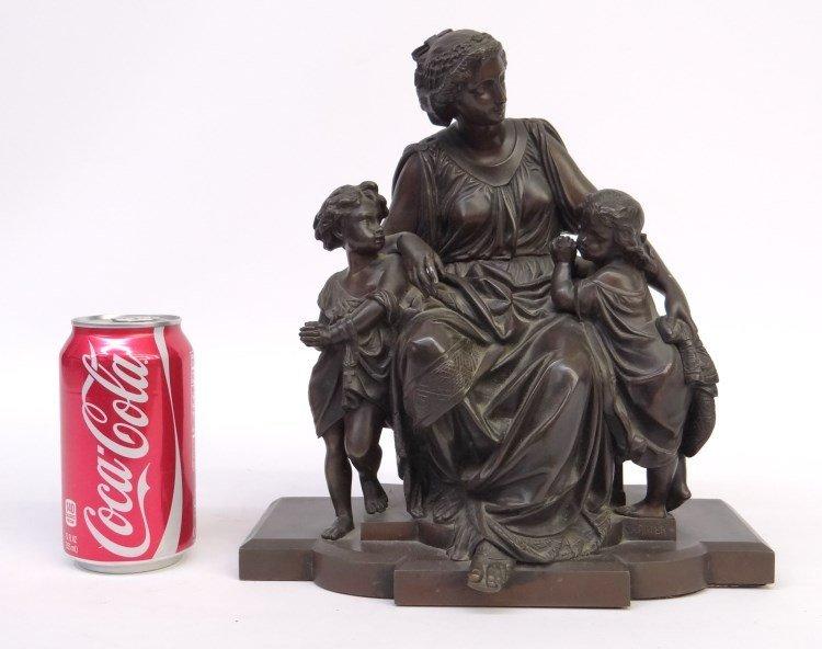 19th c. Bronze Anna Carrier