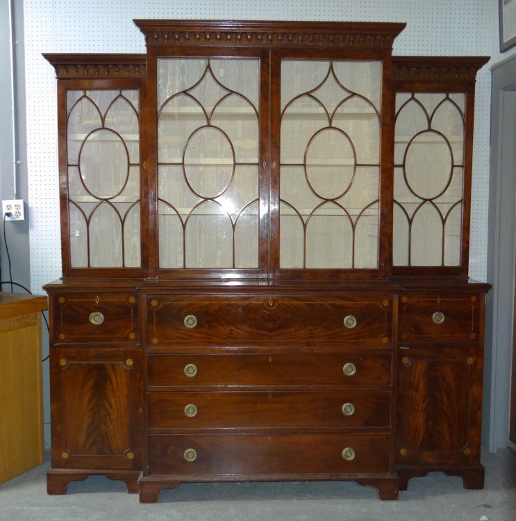 19th c. Mahogany Breakfront