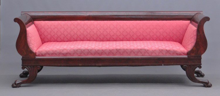 19th c. Empire Mahogany Sofa