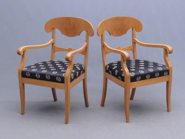 Pair Biedermeier Style Armchairs