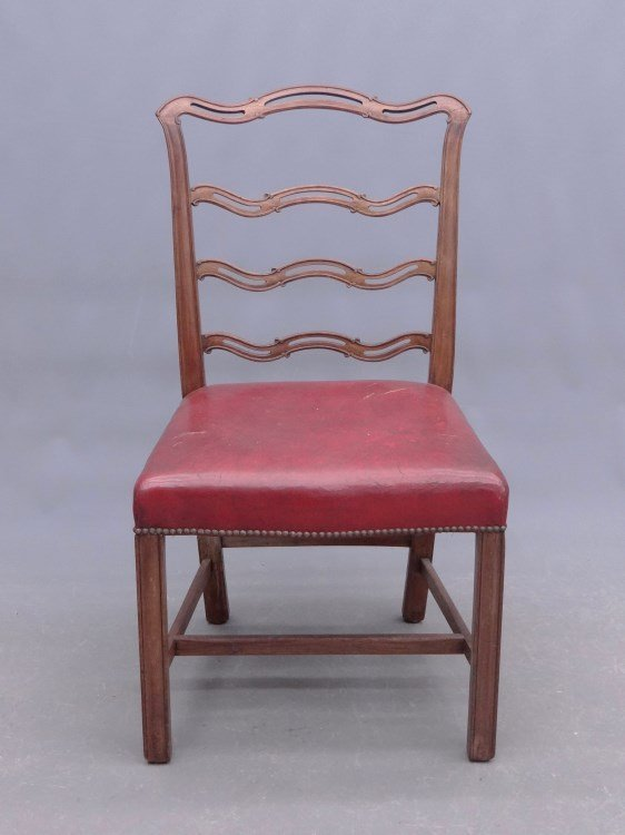 18th c. English Ribbon Back Chippendale Chair
