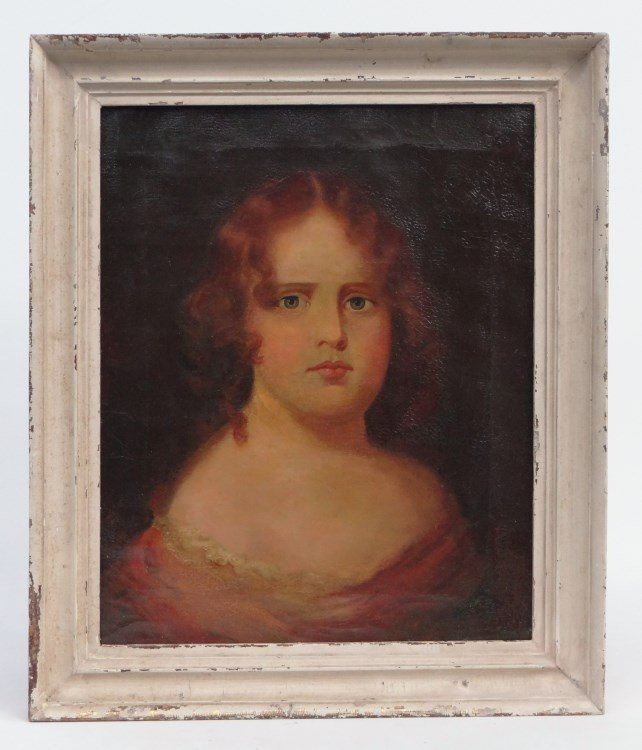 19th c. Portrait Little Girl