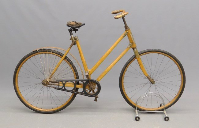 """c. 1898 The Ligna"""" Wooden Frame Safety Bicycle"""""""