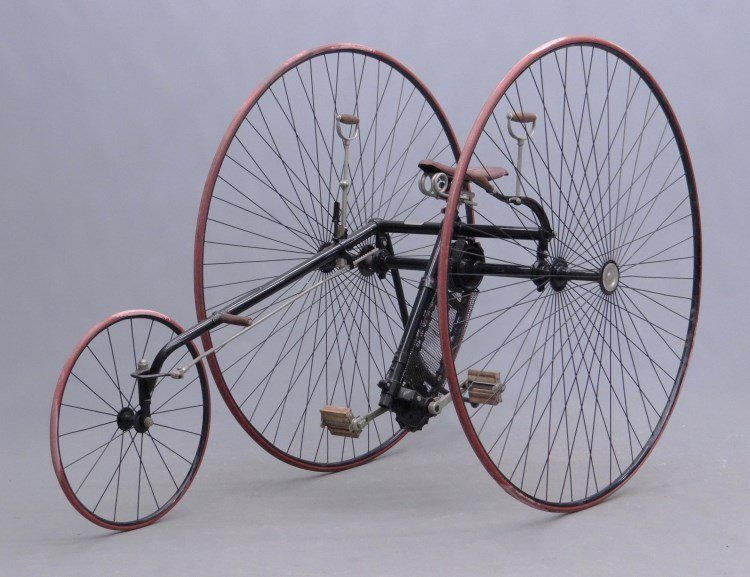 C. 1885 Columbia Two Track Tricycle