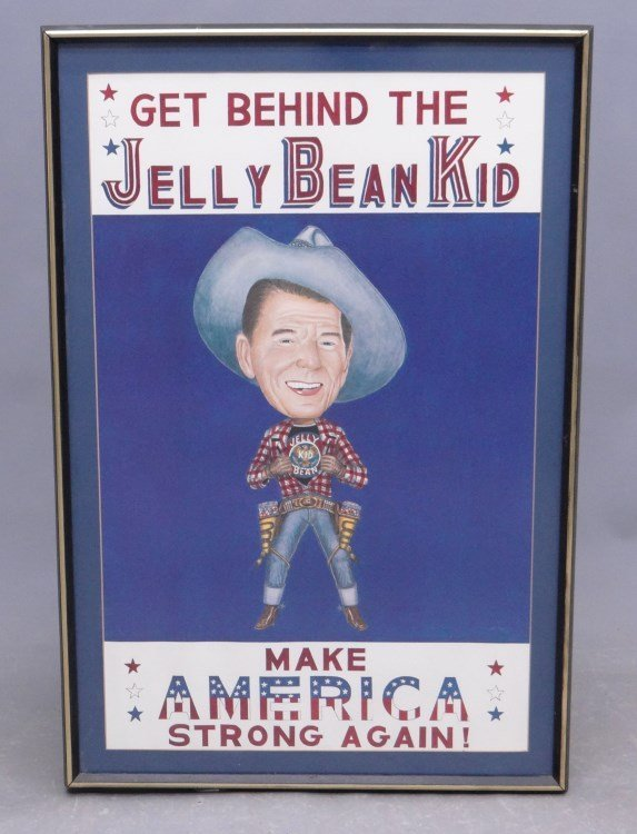 "Ronald Reagan ""Jelly Bean Kid"" Poster"