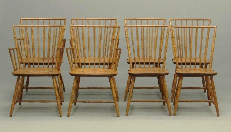 Set Of Nichols & Stone Windsor Chairs