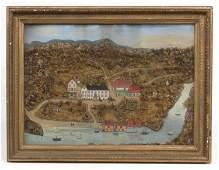 Folk Art Diorama Painting