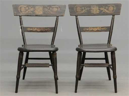Pair 19th c baltimore fancy chairs for Dynasty motors baltimore md