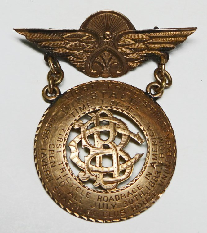 Important 19th c. Tricycle Medal