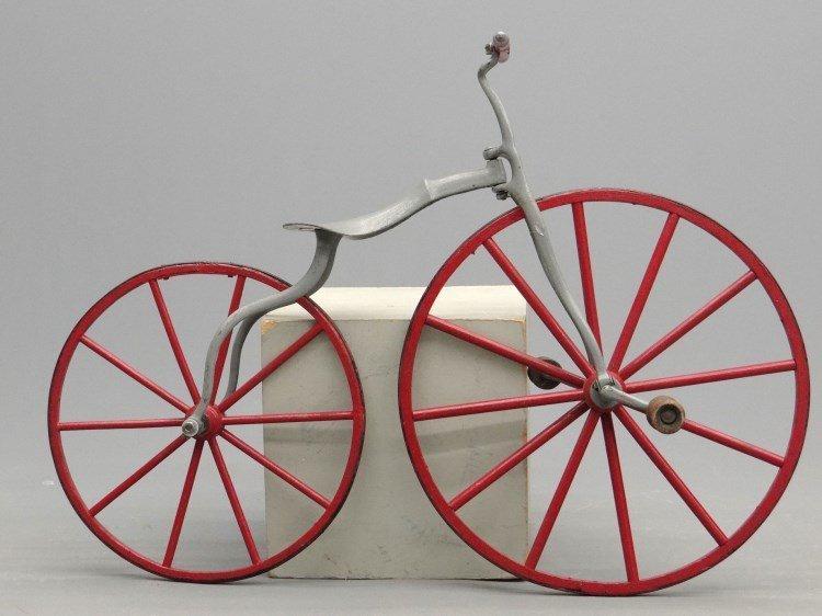 19th c. Child's Boneshaker Bicycle - 5