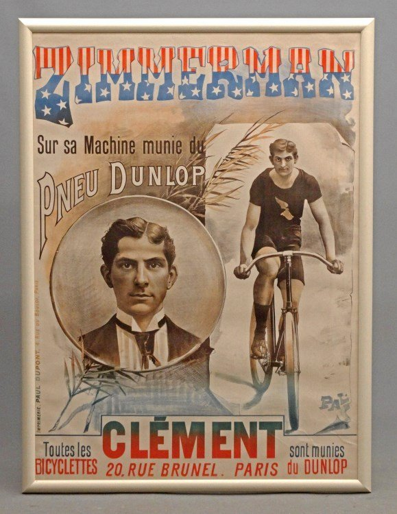 """19th C. French """"Zimmerman"""" Poster"""
