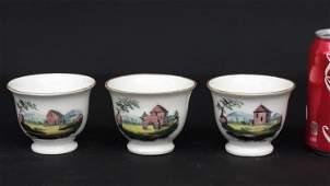 Three Tucker Porcelain Cups