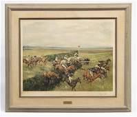 "Signed ""Michael Lyne"" Horse Print"