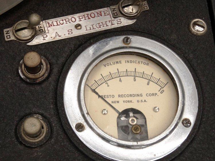 PRESTO RECORD CUTTER LATHE RECORDER, Type 12E - 6