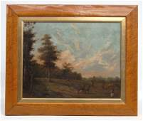 Continental School Landscape With Figures