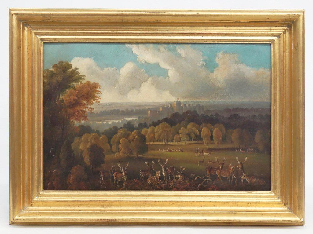 """Continental School """"Windsor Castle From The Park"""""""
