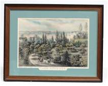 New York Bay Currier And Ives