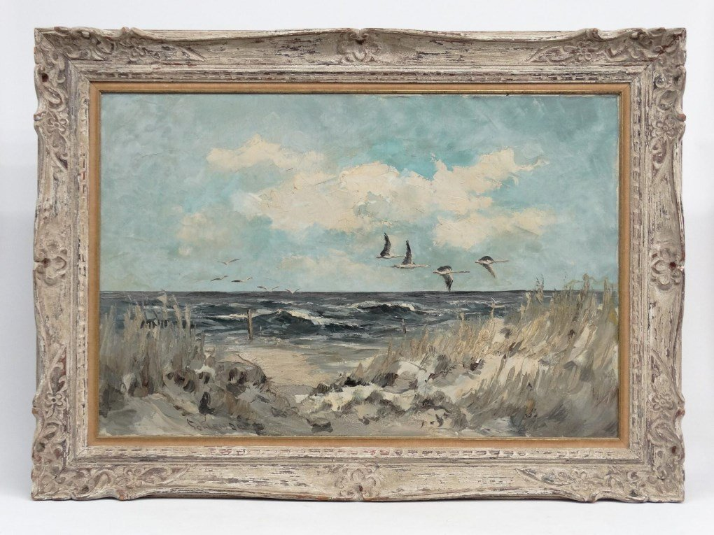 Painting Seascape Signed Schendel