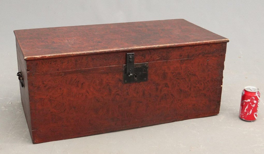 19th c. Painted Trunk