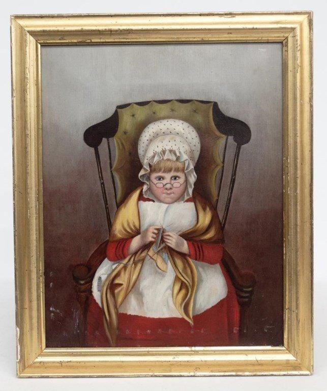 Painting Folk Art Portrait