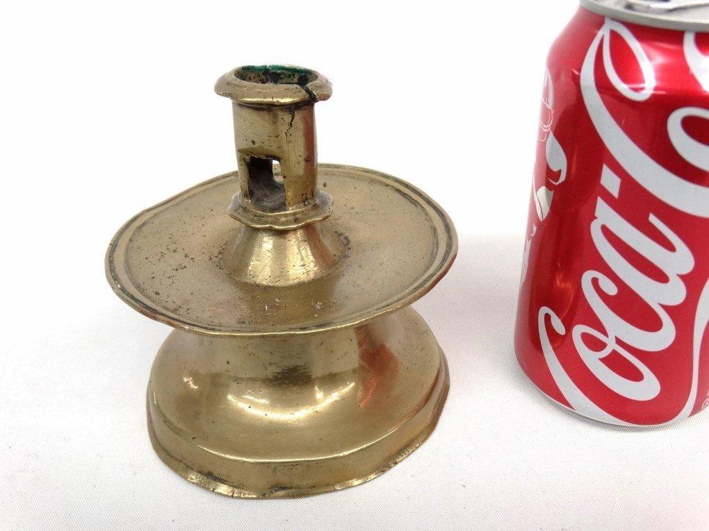 18th c. Brass Capastan Candlestick